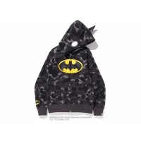 A Bathing Ape BAPE x DC Batman Color Camo Full Zip Hoodie #1 Black
