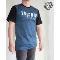 Baju Kaos distro surfing Volcom Blue