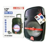 Speaker Portable Amplifier Wireless Meeting ASATRON HT-8870 UKM 12inch