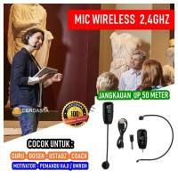 Mic Headset Upgrade 2.4G Wireless Microphone Headset Megaphone