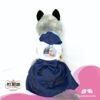 BAJU ANJING KUCING CASUAL DRESS HOODIE   halloweentheme3 - M