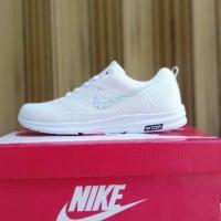 Sepatu putih polos Nike zoom Flyknit wanita Limited