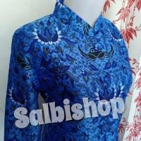 Korpri sutera silky full furing batik korpri wanita