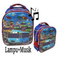 New TAYO Tas Anak Ransel TK LAMPU dan MUSIC 5D Timbul Hologram Import