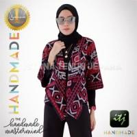 Blazer Batik Wanita Gaya Kain Tenun Ikat Blanket Motif Ende NTT
