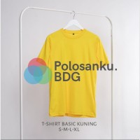 Kaos Polos Baju Oblong Kuning Combed 30's Pria Wanita Unisex