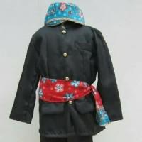 Pakaian adat anak baju betawi+blangkon size L - XL