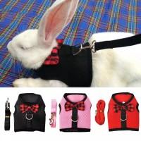 Baju Anjing Kucing  TUXEDO DASI  Harness Tali Tuntun Anjing Kucing