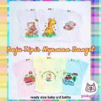 Tshirt Tee Kaos Baju Tipis Anak Rumahan Baju Bayi Baju Ruma