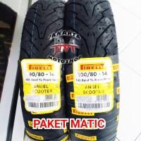 PAKET Ban Motor Matic PIRELLI Angel Scooter 90/80 & 100/80 Ring 14