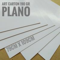 Kertas Art Carton 190 Gsm Uk Plano 79 cm X 109 cm Free Costom Size