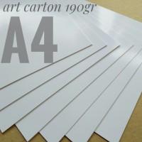 Kertas Art Carton 190 Gsm Uk A4. 21 cm X 29.7 cm