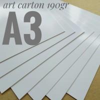 Kertas Art Carton 190 Gsm Uk A3. 29.7 cm X 42 cm