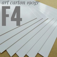 Kertas Art Carton 190 Gsm Uk F4. 21.5 cm X 33 cm