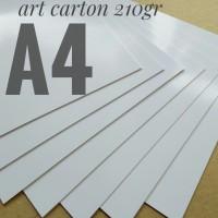 Kertas Art Carton 210 Gsm Uk A4. 21 cm X 29.7 cm