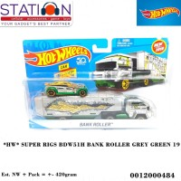 HOT WHEELS SUPER RIGS BDW51H BANK ROLLER GREY GREEN 19