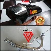 Knalpot Racing Honda Adv 150 Akrapovic Layang Carbon Fullsystem