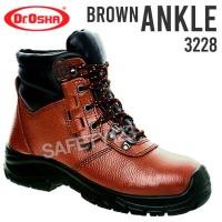 Sepatu Safety Shoes Dr OSHA Osha Ankle Boot 3228 Coklat Brown