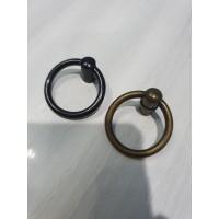 Handle Tarikan Pintu Laci Lemari Antik Klasik RING PULL ANTING Brass