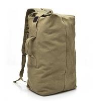 Backpack Punggung Tas Ransel Travel Kanvas Big Size Khaki - 170037