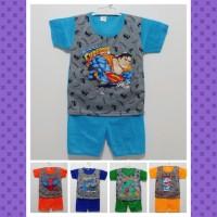 Baju Setelan Anak Laki-laki Abu Kombinasi Size XL usia 3-4 tahun