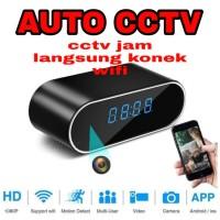 Kamera Pengintai Model Jam Meja WIFI P2P HD 720P Camera Spy Desk Clock