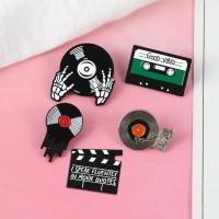 Vinyl, Cassette, Player, Movie Quote Pin Bros Kaset Piringan Hitam