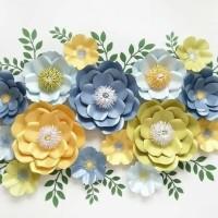 paperflower backdrop,dekorasi bunga kertas