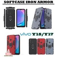 Case iron armor + ring Vivo Y15 - Softcase robot Vivo Y15