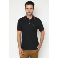 Jack Nicklaus Universal-3 Polo Shirt Pria Regular Fit Hitam Merah