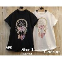 CHERON 17533- Kaos Oblong Wanita Dewasa Fit L Baju Atasan Cewek Tumblr