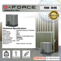 Autogate   sliding gate   mesin pagar otomatis   G-Force F500-20NS