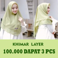 KHIMAR LAYER / 100RB DAPAT 3 PCS