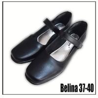 Belina - sepatu kerja/guru wanita pantofel hitam/sepatu paskibra hitam