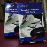 donut air cushion with pump bantal wasir bantal donat