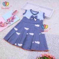 Dress Aila 2-3 Tahun / Baju Anak Perempuan Dres Model Yukensi Motif