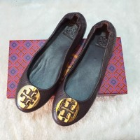 TB Minnie Quilted Leather Travel Flatshoes