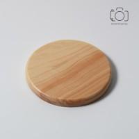 Coaster Kayu / Tatakan Gelas Kayu / Properti Foto