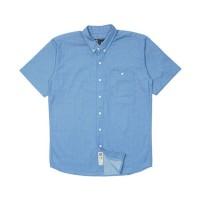 Kemeja Pria Lengan Pendek Monochrome SS Kikan Blue Shirt