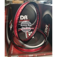 Velg TDR Wx Shape Two Tone Set Ring 17 x 140 160 Black Red