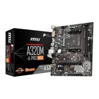 MSI A320M-A PRO MAX AMD A320 AM4 DDR4 Micro ATX Motherboard