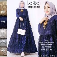 lafita maxy baju gamis broklat wanita muslim gaul masa kini