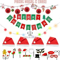 Paket Dekorasi Balon Foil Natal / Merry Christmas - Set C