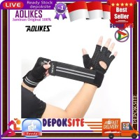 AOLIKES 113 Sarung Tangan Sepeda Gym Fitness Wrist Support Gloves Gym