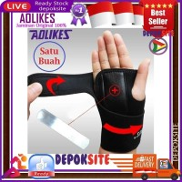 1Pcs AOLIKES Removabl Steel Wrist Bracer Wrist Hand Support Wristband