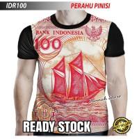 Kaos Keren Baju Gambar Uang Seratus Jadul 100 Kertas Perahu Pinisi
