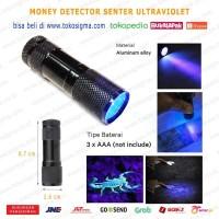 SENTER ULTRAVIOLET DETEKSI CEK UANG PORTABLE MONEY DETECTOR UV LED
