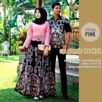 Baju dress gamis brokat furing couple batik kemeja sarimbit 2699