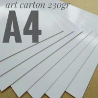 Kertas Art Carton 230 Gsm Uk A4. 21 cm X 29.7 cm