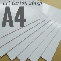 Kertas Art Carton 260 Gsm Uk A4. 21 cm X 29.7 cm